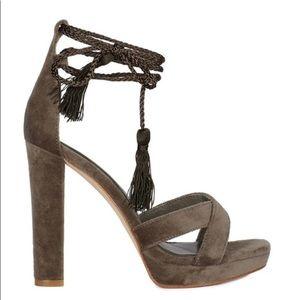 Joie Ash Green Velvet Sandals